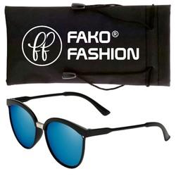 Fako Fashion® - Zonnebril - Clubmaster - Spiegel Blauw