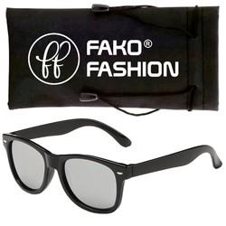 Fako Fashion® - Kinder Zonnebril - Wayfarer - Spiegel Zilver