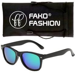 Fako Fashion® - Kinder Zonnebril - Wayfarer - Spiegel Groen