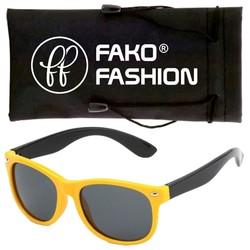 Fako Fashion® - Kinder Zonnebril - Duo - Geel/Zwart