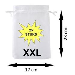Fako Bijoux® - Organza Zakken - 17x23cm - Wit - 25 Stuks