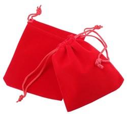 Fako Bijoux® - Cadeau Zakjes - Velours - 10x12cm - Rood - 10 Stuks