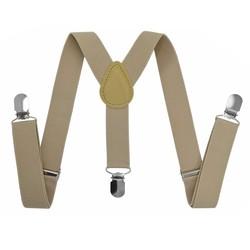Fako Fashion® - Kinder Bretels - Effen - 65cm - Beige