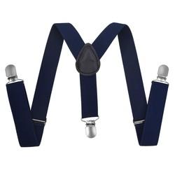 Fako Fashion® - Kinder Bretels - Effen - 65cm - Navy Blauw