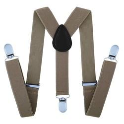Fako Fashion® - Kinder Bretels - Effen - 65cm - Khaki