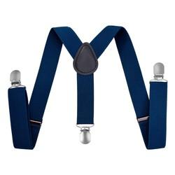 Fako Fashion® - Kinder Bretels - Effen - 65cm - Kobalt Blauw