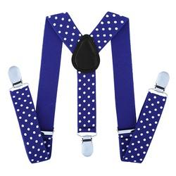 Fako Fashion® - Kinder Bretels - Stippen - 65cm - Royal Blauw