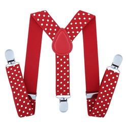 Fako Fashion® - Kinder Bretels - Stippen - 65cm - Rood