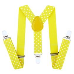 Fako Fashion® - Kinder Bretels - Stippen - 65cm - Geel
