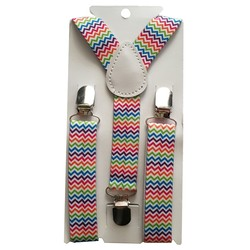 Fako Fashion® - Kinder Bretels - Print - Wacky - 65cm - Regenboog