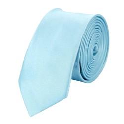 Fako Fashion® - Skinny Stropdas - Effen - 145cm - Lichtblauw