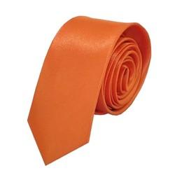 Fako Fashion® - Skinny Stropdas - Effen - 145cm - Oranje