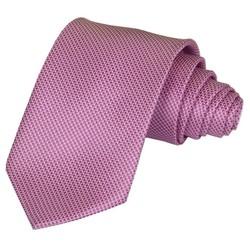 Fako Fashion® - Luxe Stropdas - 145cm - 8cm - Roze/Paars Gewafeld