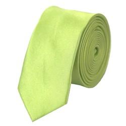 Fako Fashion® - Skinny Stropdas - Effen - 145cm - Lime Groen