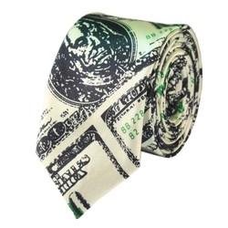 Fako Fashion® - Skinny Stropdas - Print - 145cm - Dollars