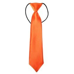Fako Fashion® - Kinderstropdas - Effen - Elastiek - Oranje