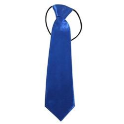 Fako Fashion® - Kinderstropdas - Effen - Elastiek - Royal Blauw