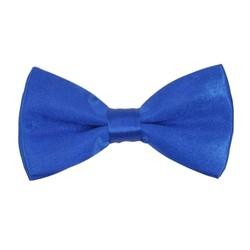 Fako Fashion® - Kinder Vlinderstrik - Vlinderdas - Effen - 10cm - Royal Blauw