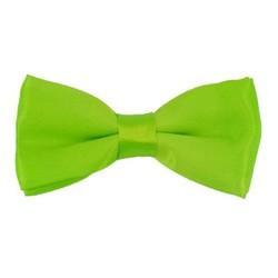 Fako Fashion® - Kinder Vlinderstrik - Vlinderdas - Effen - 10cm - Fluo Groen