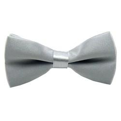Fako Fashion® - Kinder Vlinderstrik - Vlinderdas - Effen - 10cm - Grijs
