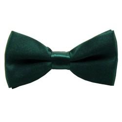 Fako Fashion® - Kinder Vlinderstrik - Vlinderdas - Effen - 10cm - Donkergroen