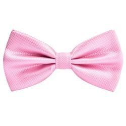 Fako Fashion® - Kinder Vlinderstrik - Vlinderdas - Wafel - 10cm - Roze