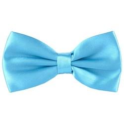 Fako Fashion® - Vlinderstrik - Vlinderdas - Satijn - 12.5cm - Turquoise