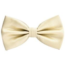 Fako Fashion® - Vlinderstrik - Vlinderdas - Raster - 12cm - Champagne