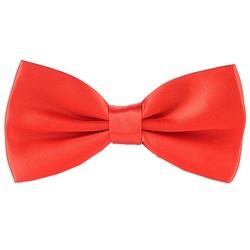Fako Fashion® - Vlinderstrik - Vlinderdas - Glossy - 12.5cm - Rood