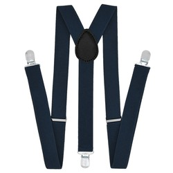 Fako Fashion® - Bretels - Effen - 100cm - Navy Blauw