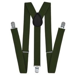 Fako Fashion® - Bretels - Effen - 100cm - Army Groen