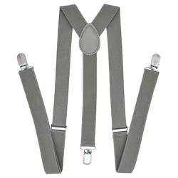 Fako Fashion® - Bretels - Effen - 100cm - Grijs