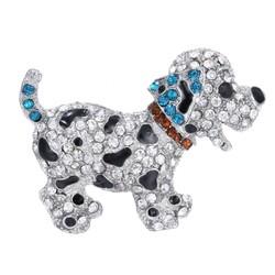 Fako Bijoux® - Broche - Puppy - Kristal - 53x40mm - Blauw
