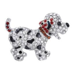 Fako Bijoux® - Broche - Puppy - Kristal - 53x40mm - Rood