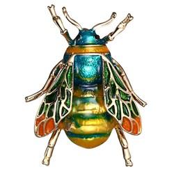 Fako Bijoux® - Broche - Bij - Bee - 27x35mm - Blauw