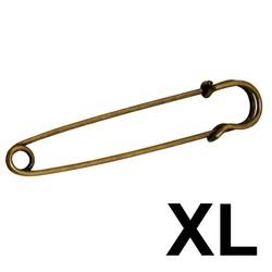 Fako Bijoux® - Sierspeld / Sjaalspeld - Classic XL - Brons