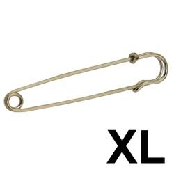 Fako Bijoux® - Sierspeld / Sjaalspeld - Classic XL - Zilverkleurig