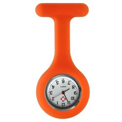 Fako® - Verpleegstershorloge - Siliconen Uni - Oranje