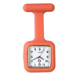 Fako® - Verpleegstershorloge - Siliconen Vierkant - Oranje