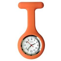 Fako® - Verpleegstershorloge - Siliconen RVS Lumi - Oranje