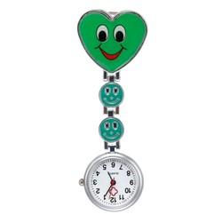 Fako® - Verpleegstershorloge - Hart Smile - Groen