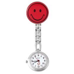 Fako® - Verpleegstershorloge - Smiley - Rood