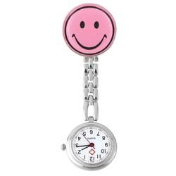 Fako® - Verpleegstershorloge - Smiley - Roze