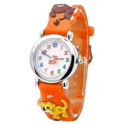 Fako® - Kinderhorloge - 3D - Puppies - Oranje