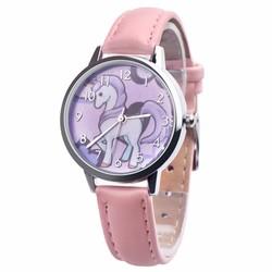 Fako® - Kinderhorloge - Eenhoorn - Unicorn - Roze