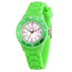 Fako® - Kinderhorloge - Siliconen - Regenboog - Groen