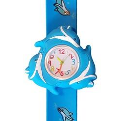 Fako® - Kinderhorloge - 3D - Spinner - Dolfijn - Blauw