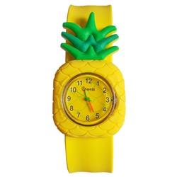 Fako® - Kinderhorloge - Slap On Mini - Ananas - Geel