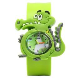 Fako® - Kinderhorloge - Slap On Mini - Krokodil - Groen