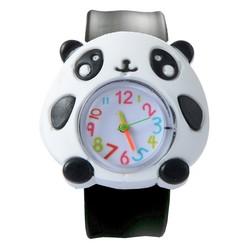 Fako® - Kinderhorloge - Slap On Mini - Panda - Zwart/Wit